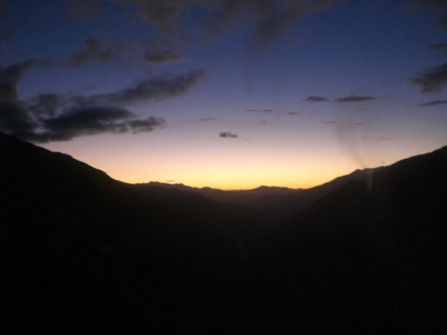 the Andes remind me of home