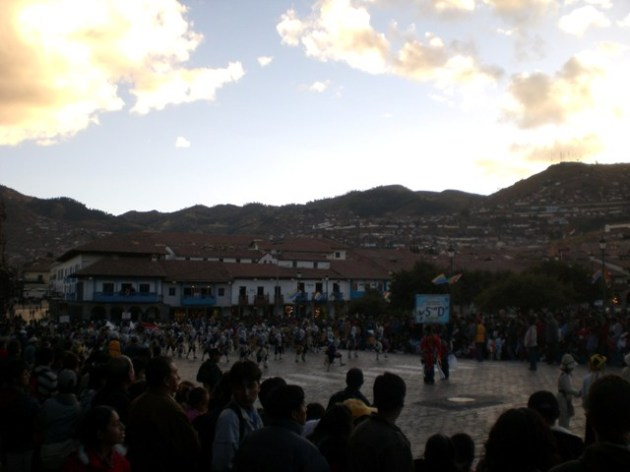Cusco - parade in Plaza de Armas