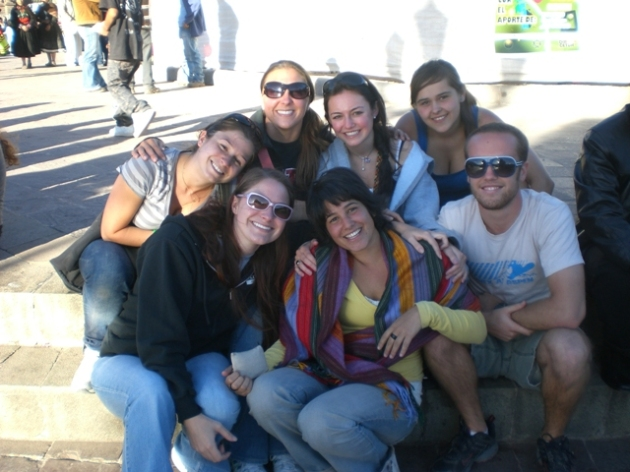 Me, fellow volunteers, and Dana, our new adorable Israeli friend!