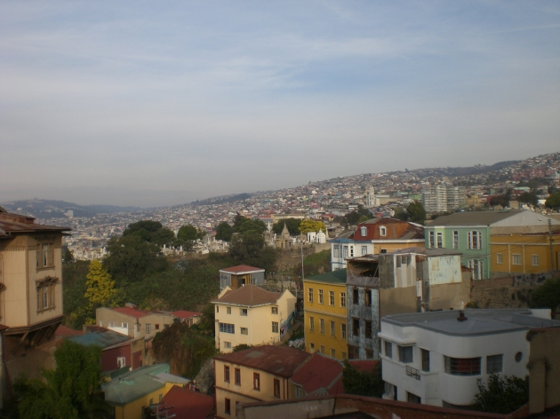 Valparaiso, Chile - view from hostel