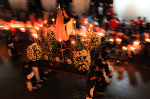 Procession through Popayán, Colombia during Holy Week